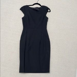 THEORY Little Black Dress. Fitted. Pockets. Lined.